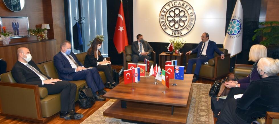 5 Ülkenin Büyükelçilerinden KTO'ya Ziyaret