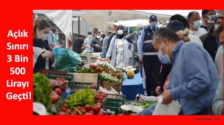 Açlık Sınırı 3 Bin 500 Lirayı Geçti!