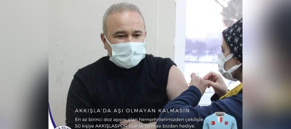 Akkışla'da Ödüllü Aşı Kampanyası