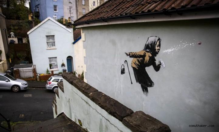 Banksy'nin Son Eserini Yaptığı Evin Fiyatı 17 Kat Arttı