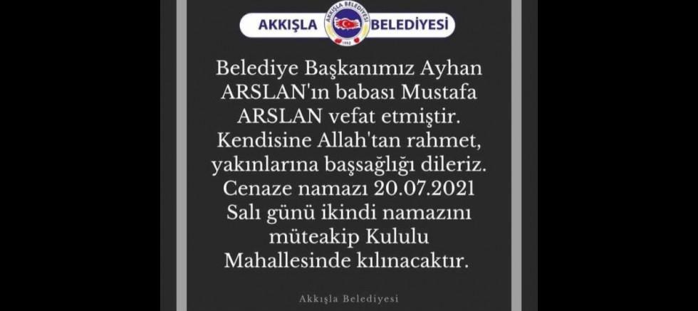 Başkan Arslan'ın Acı Günü
