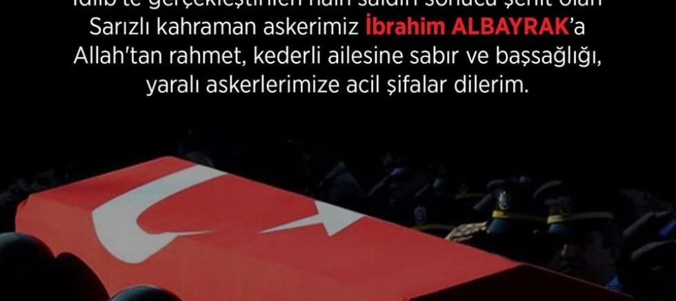 Başkan Dr. Mustafa Palancıoğlu'ndan Başsağlığı Mesajı