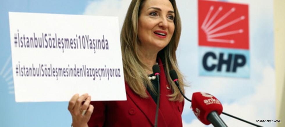"""CHP Kadın Kolları Başkanı Nazlıaka, İstanbul Sözleşmesi'nin 10. Yıl Dönümünde """"Vazgeçmeyiz"""" Dedi"""