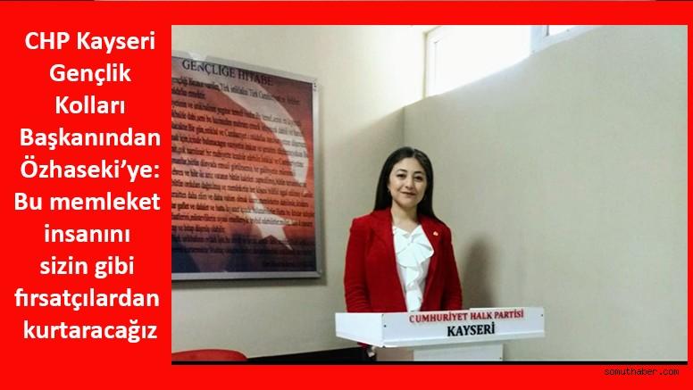 CHP Kayseri Gençliğinden Mehmet Özhaseki'ye Sert Eleştiri