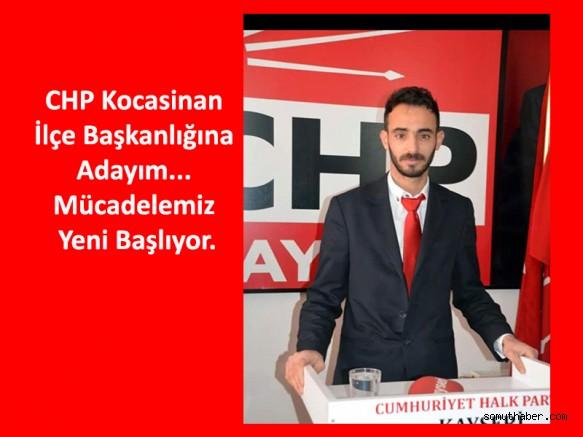 CHP Kocasinan Teşkilatına Genç İsim Barış Özdemir Aday