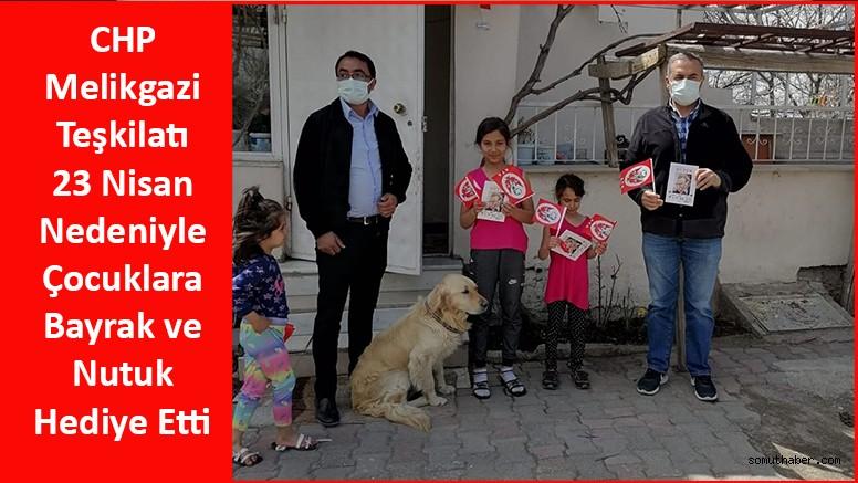 CHP Melikgazi Teşkilatından Çocuklara 23 Nisan Hediyesi