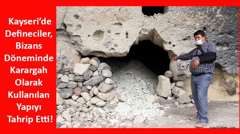 Defineciler, Bizans Döneminde Karargah Olarak Kullanılan Yapıyı Tahrip Etti
