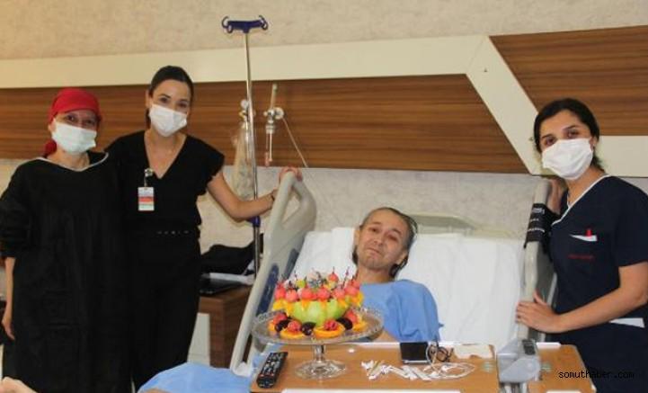 Doğum gününde yeni karaciğerine kavuştu