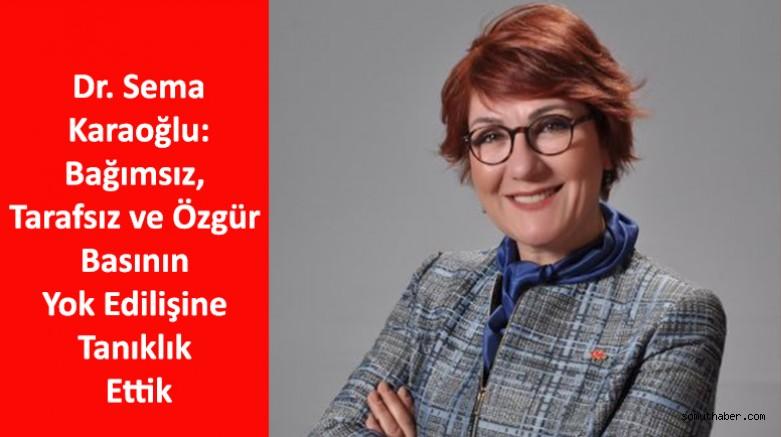 Dr. Karaoğlu: 24 Temmuz Sansürle Topyekün Mücadele Günü