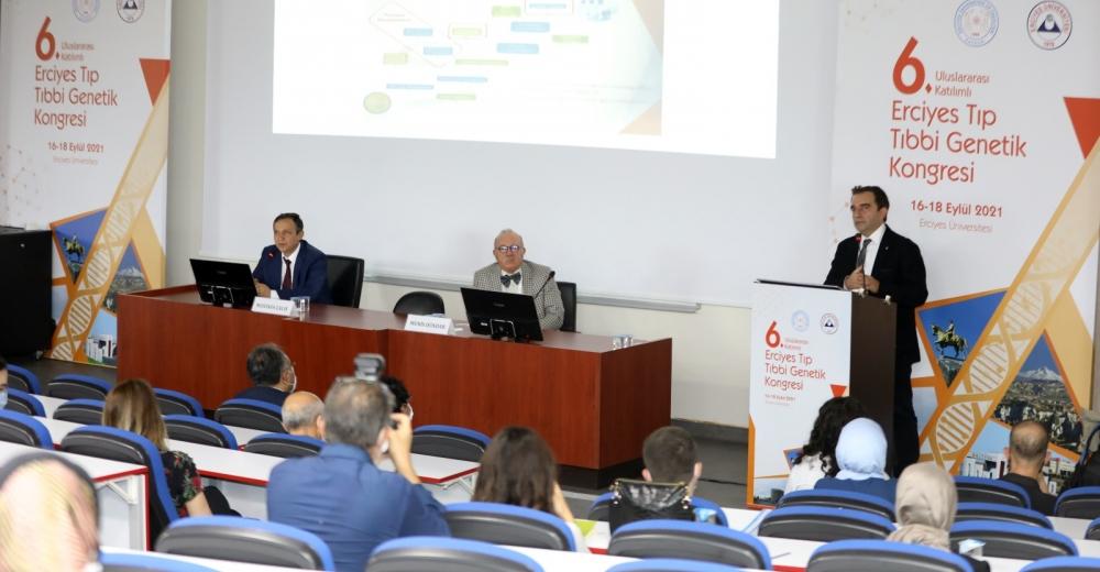"""ERÜ'de """"6. Uluslararası Katılımlı Erciyes Tıp Tıbbi Genetik Kongresi"""" Başladı"""