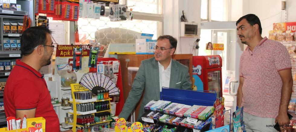 Hacılar Belediye Başkanı İlçedeki Esnafın Gönlüne Dokundu