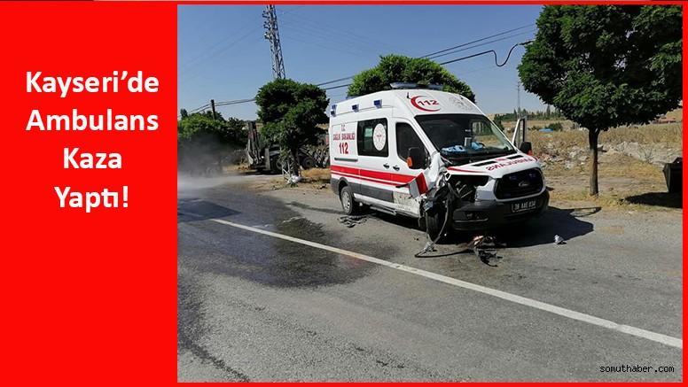 Hasta Taşıyan Ambulansa Traktör Çarptı!
