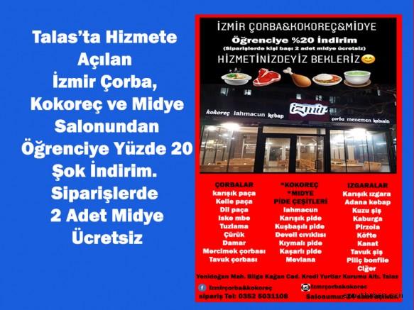 İzmir Çorba'dan Öğrenciye Yüzde 20 İndirim!