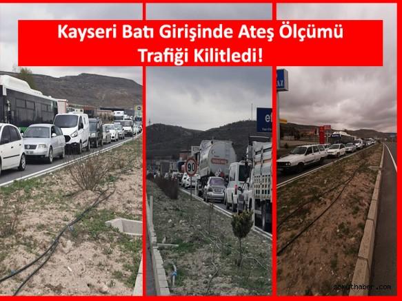 Kayseri-Ankara Yolunda Trafik Durdu!