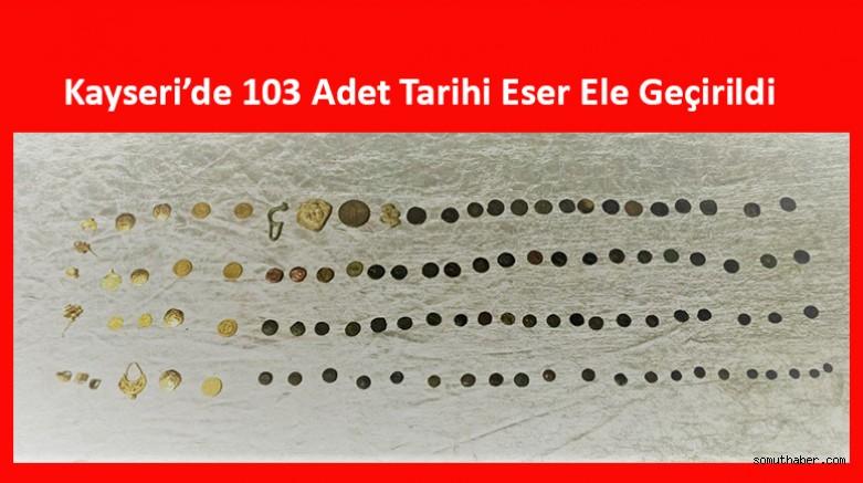 Kayseri'de 103 Adet Tarihi Eser Ele Geçirildi