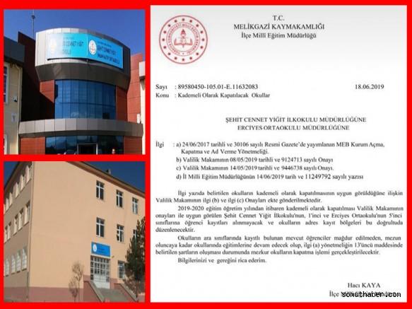 Kayseri'de 2 Okulun Kapatılma Yazısı Kafaları Karıştırdı!