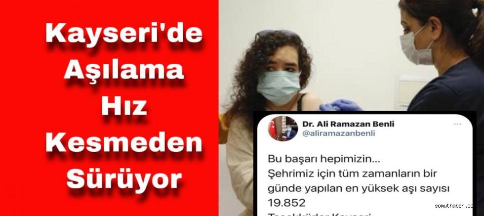 Kayseri'de Aşı Rekoru Kırıldı