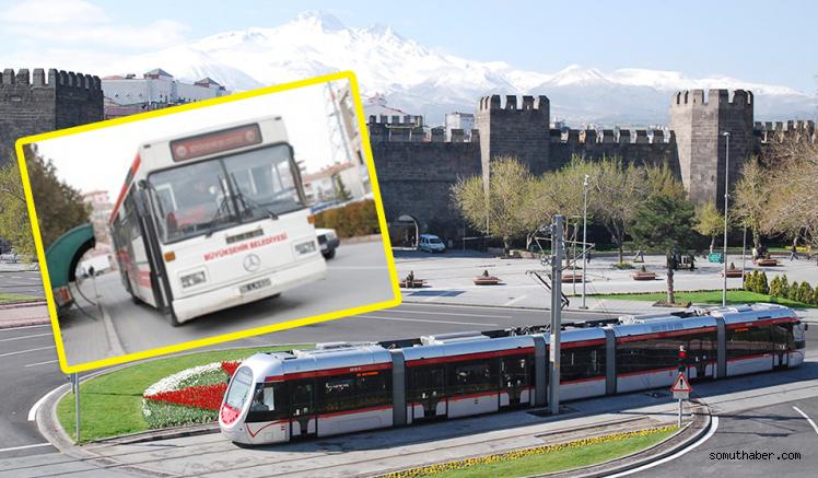 Kayseri'de Bayramda BŞB'ye Ait Ulaşım Ücretsiz