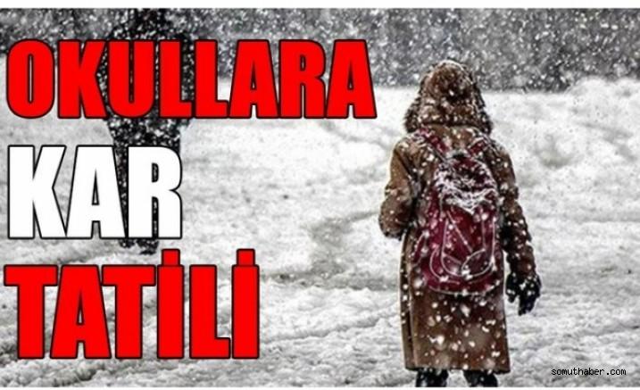 Kayseri'de Eğitime Kar Engeli, Okullar tatil