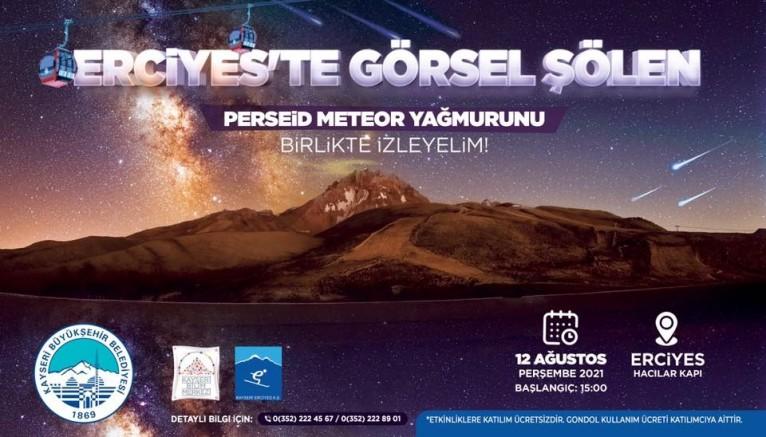 Kayseri'de Meteor Yağmuru İzlenebilecek
