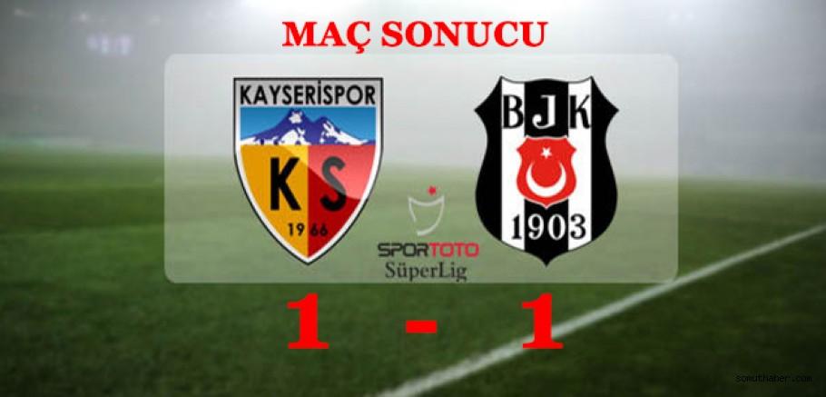 KAYSERİ'DE PUANLAR PAYLAŞILDI!
