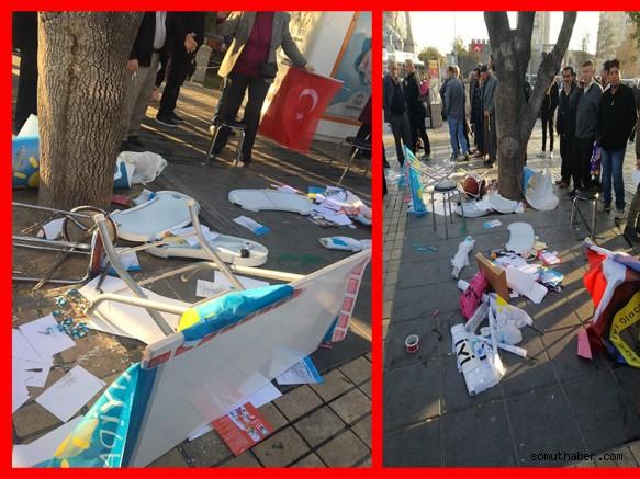 Kayseri'de  İyi Parti Standına Saldırı!