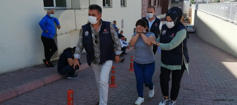 Kayseri'de Yakalanan PKK'nın Kadın Sorumlusu Adliyede