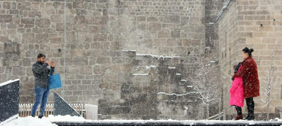 Kayseri'ye kar yağdı, ortaya kartpostallık görüntü çıktı