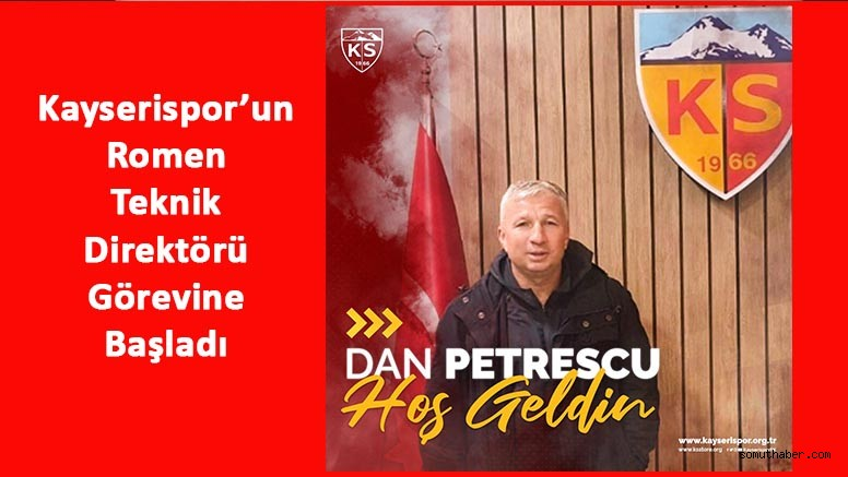 Kayserispor, Dan Petrescu'yu Resmen Açıkladı