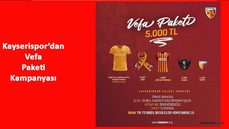 Kayserispor'dan 'Vefa Paketi' Kampanyası