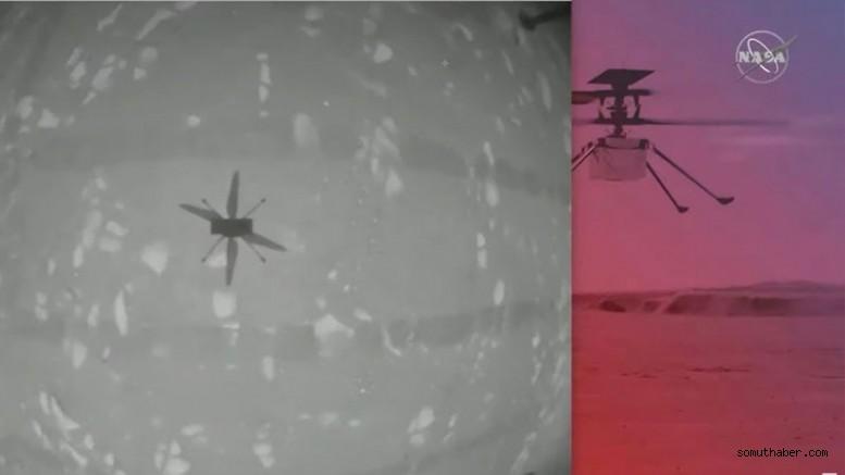 Mars'a Tarihi Helikopter Uçuşu Başarılı Oldu