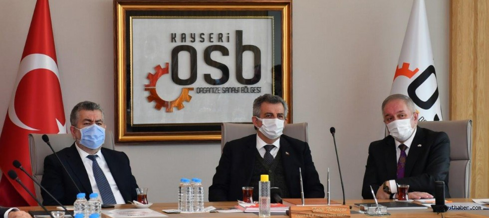 Sanayi ve Teknoloji Bakan Yardımcıları Kayseri OSB'ni Ziyaret Etti