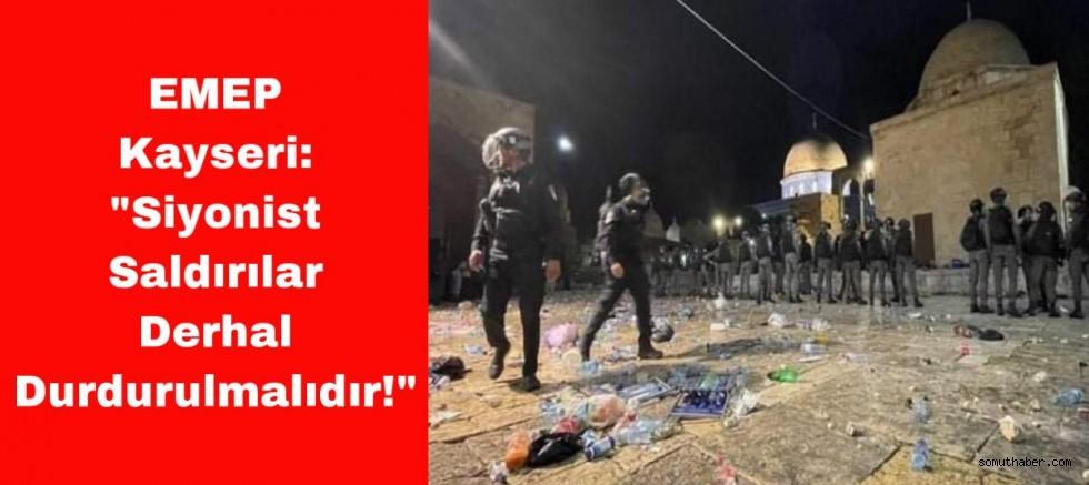 Siyonist Saldırılar Derhal Durdurulmalıdır!