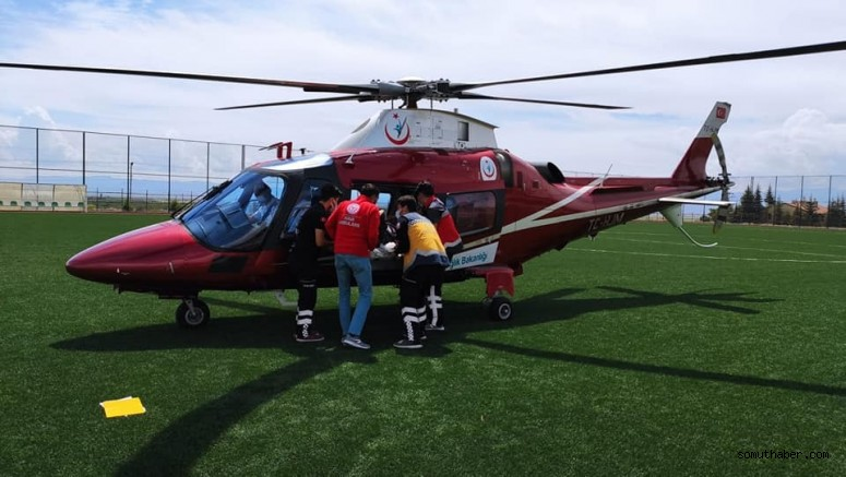 Solunumu Duran Hasta Ambulans Helikopterle Sevk Edildi