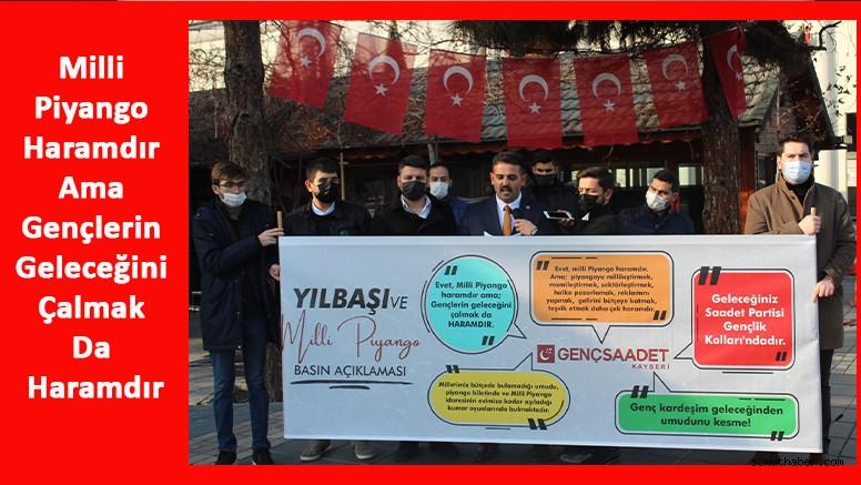 SP'li Gençler: Milli Piyango Haramdır