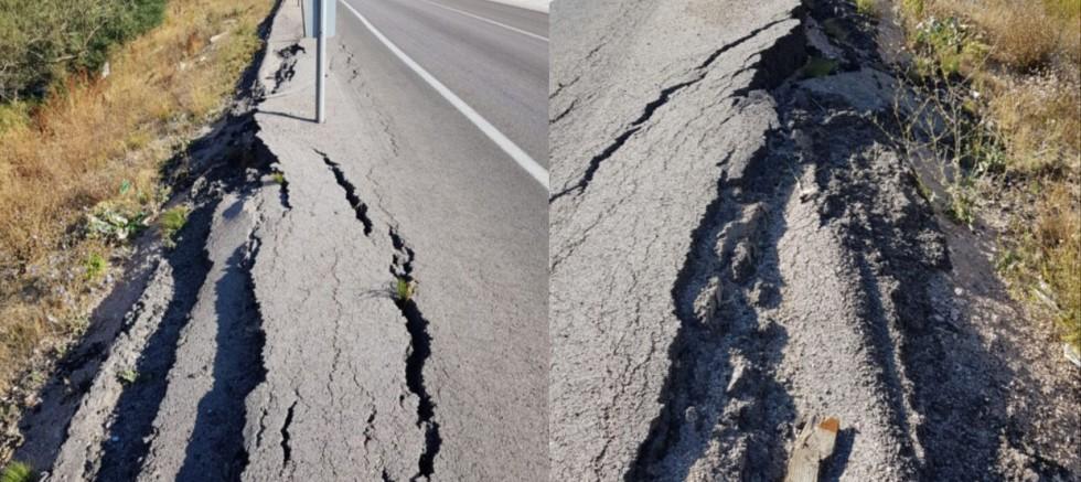 Sürücüler Çöken Yol Kenarından Şikayetçi