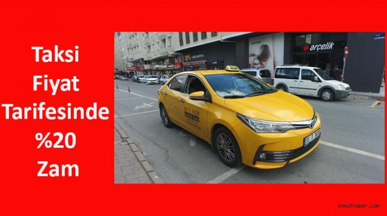 Taksi Fiyat Tarifesinde %20 Zam