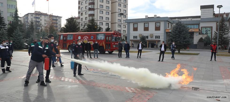 Talas Personeline Yangın Eğitimi