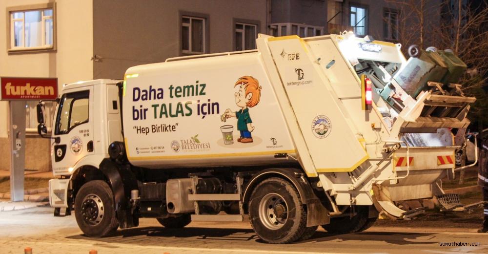 Talas'ta Çöp Toplama Saatleri'ne Ramazan Ayarı