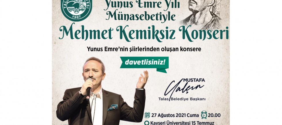 Talas'ta Mehmet Kemiksiz Konseri