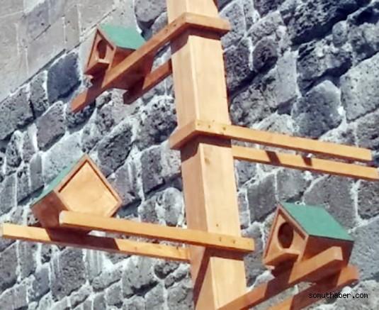 Tarihi Kayseri Kalesi'nde güvercinler de düşünüldü