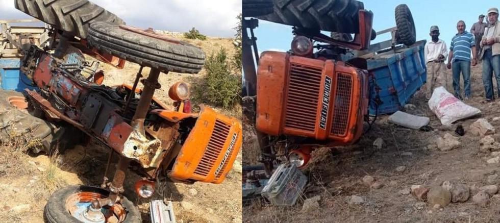 Traktör Uçuruma Yuvarlandı: 1 Ağır Yaralı