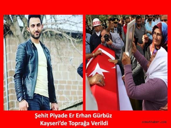 Traktörün Çarptığı Şehit Er Kayseri'de Sonsuzluğa Uğurlandı