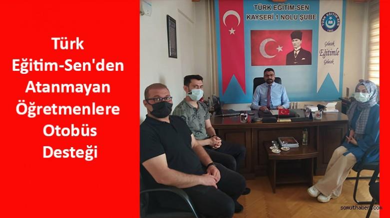 Türk Eğitim-Sen'den Atanmayan Öğretmenlere Otobüs Desteği