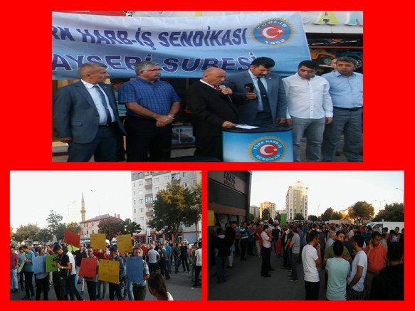 Türk Harb-İş üyeleri Kayseri'de İşten Çıkarmaları Protesto Etti