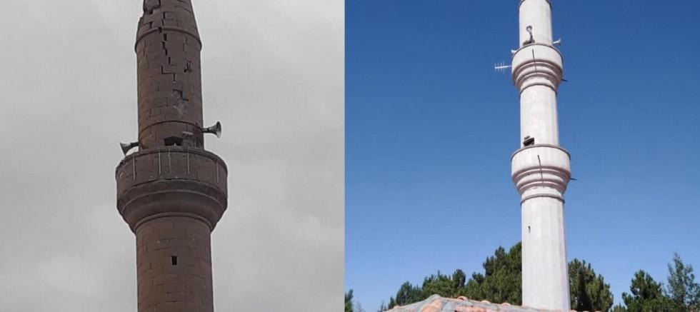 Yıkılan Minare Yenilendi